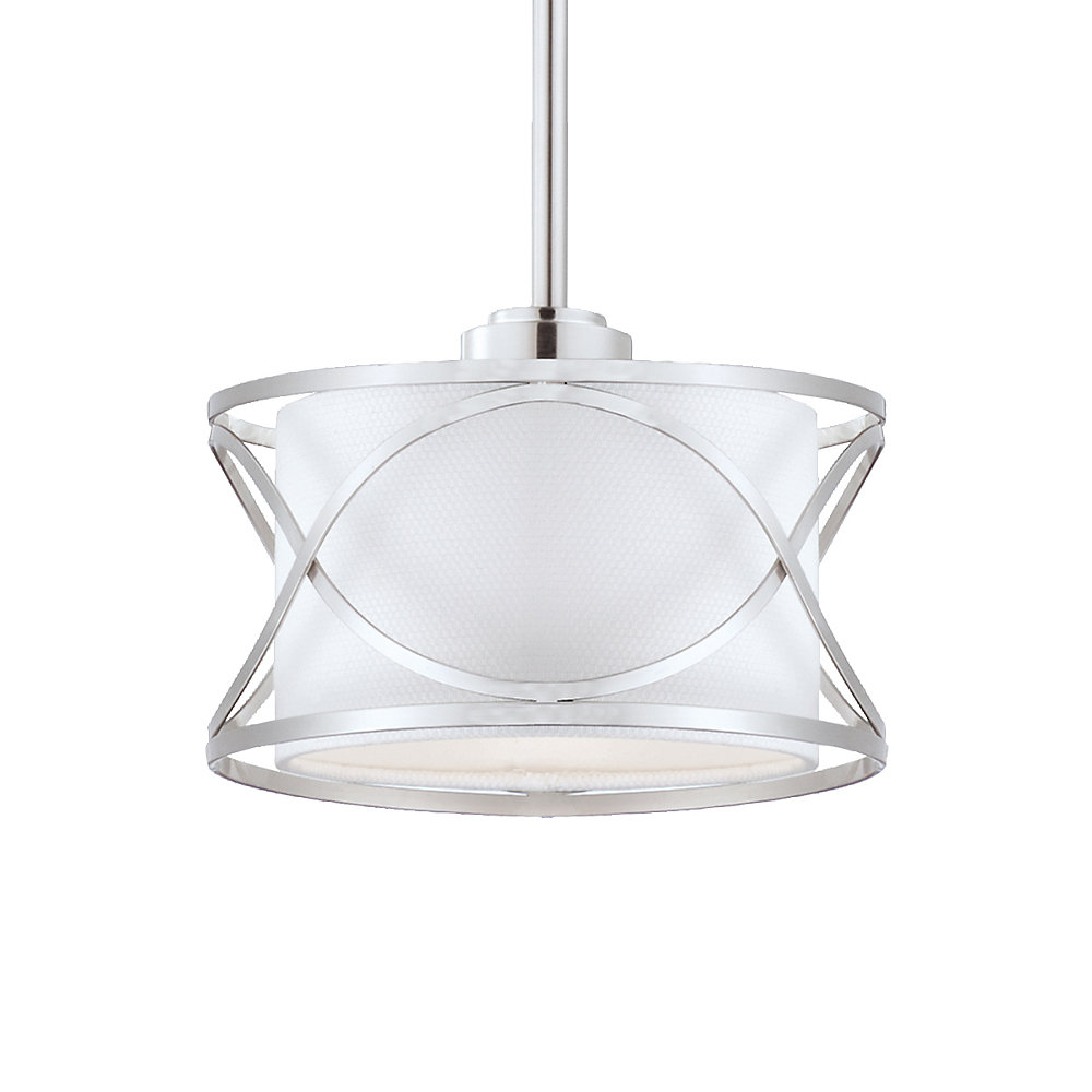 Solo Collection 1 Light Brushed Nickel Pendant