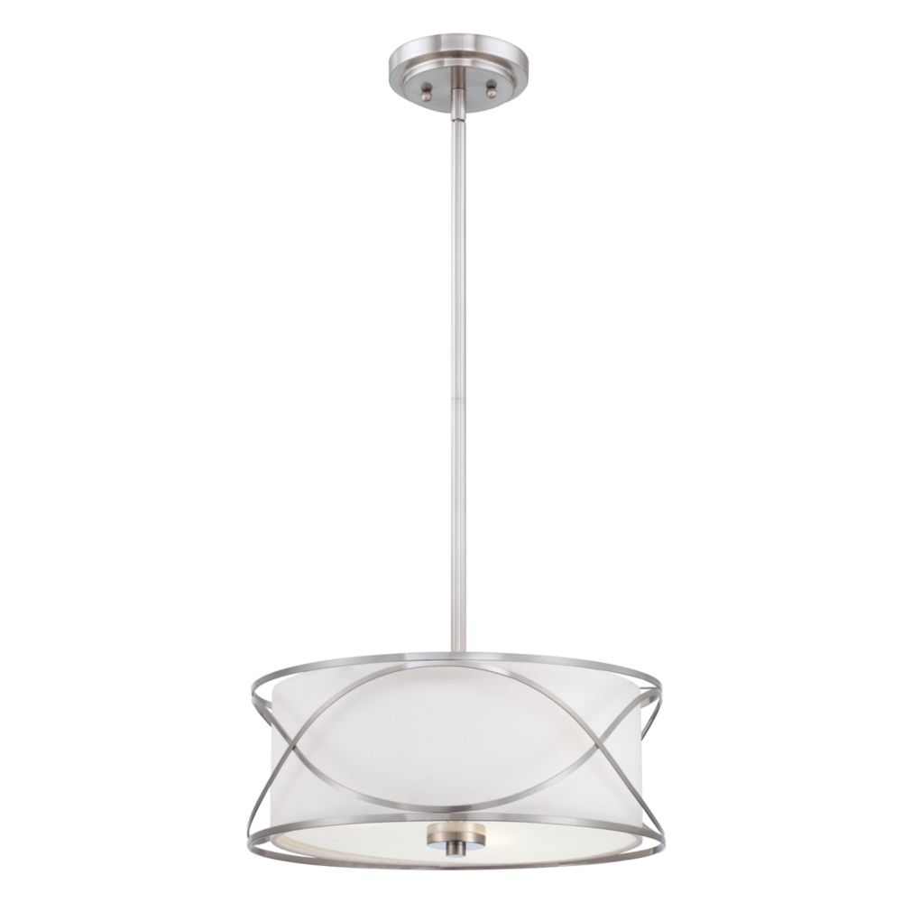 Solo Collection 3 Light Brushed Nickel Pendant