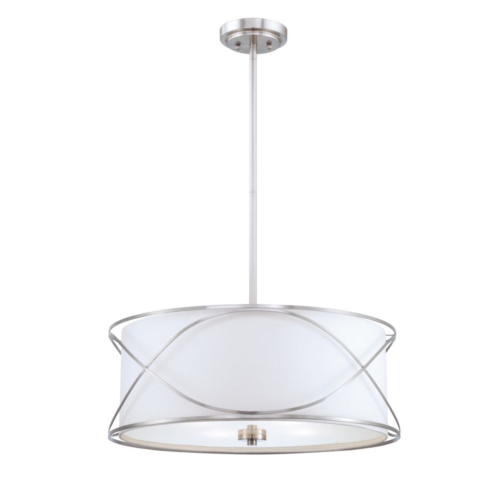 Solo Collection 4 Light Brushed Nickel Pendant