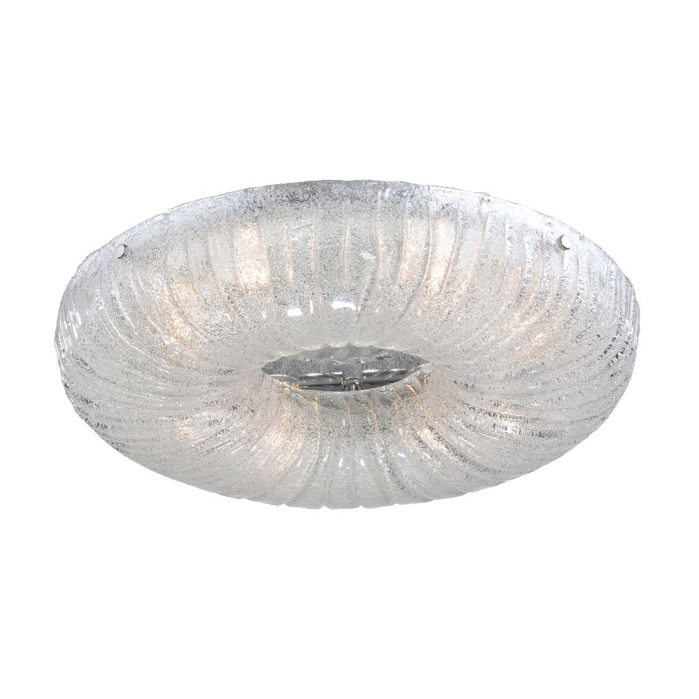 Spectra Collection 6 Light Clear Round Flushmount