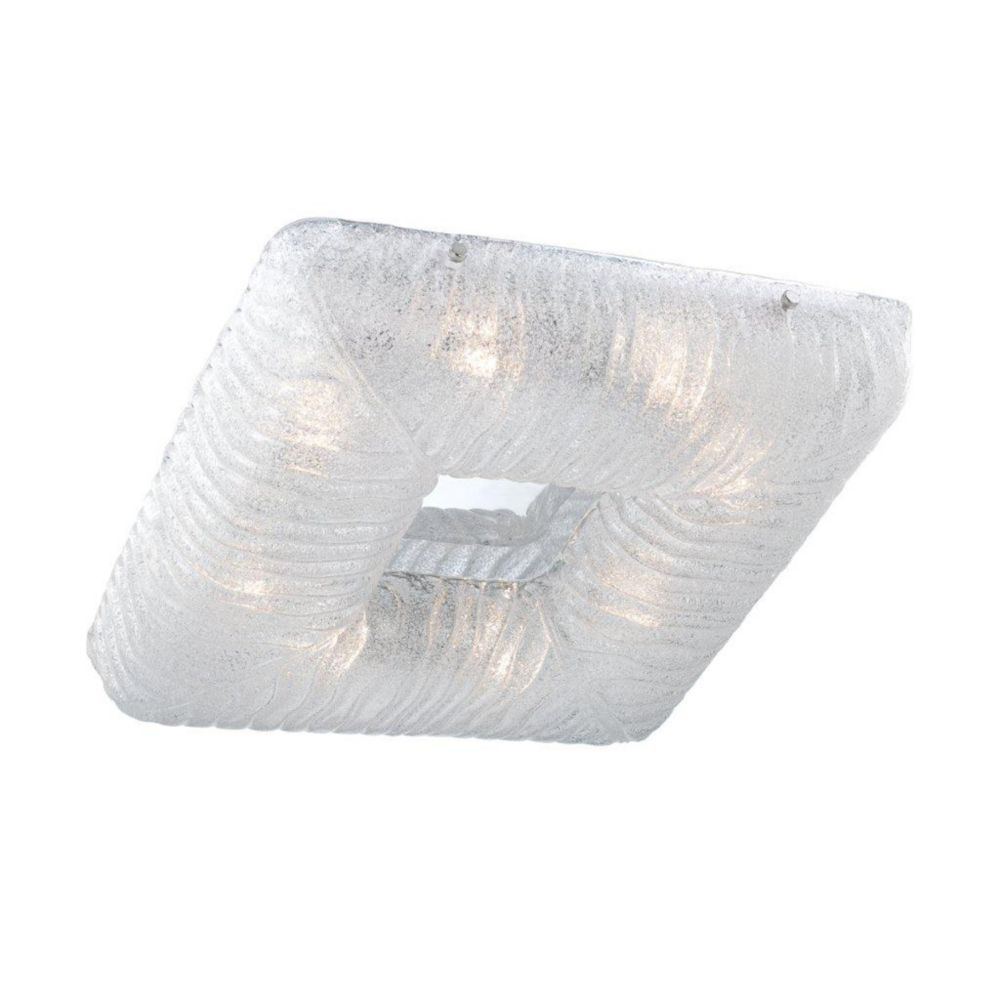 Spectra Collection 8 Light Clear Square Flushmount