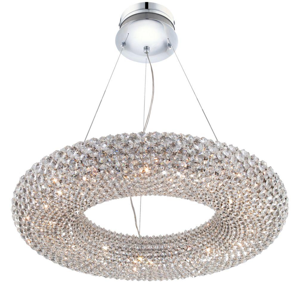 Luminaire Suspendue à 18 Lumières, Collection Sola