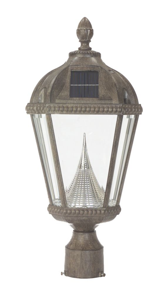 Royal Solar Lamp, 3 Inch Fitter Mount in Weathered Bronze GS-98F-WB Canada Discount