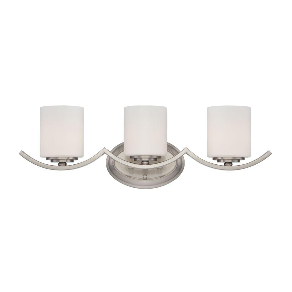 Beam Collection 3 Light Satin Nickel Bathbar