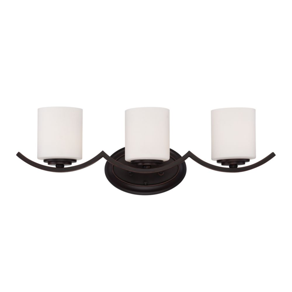 Beam Collection 3 Light Oil Rubbed Bronze Bathbar