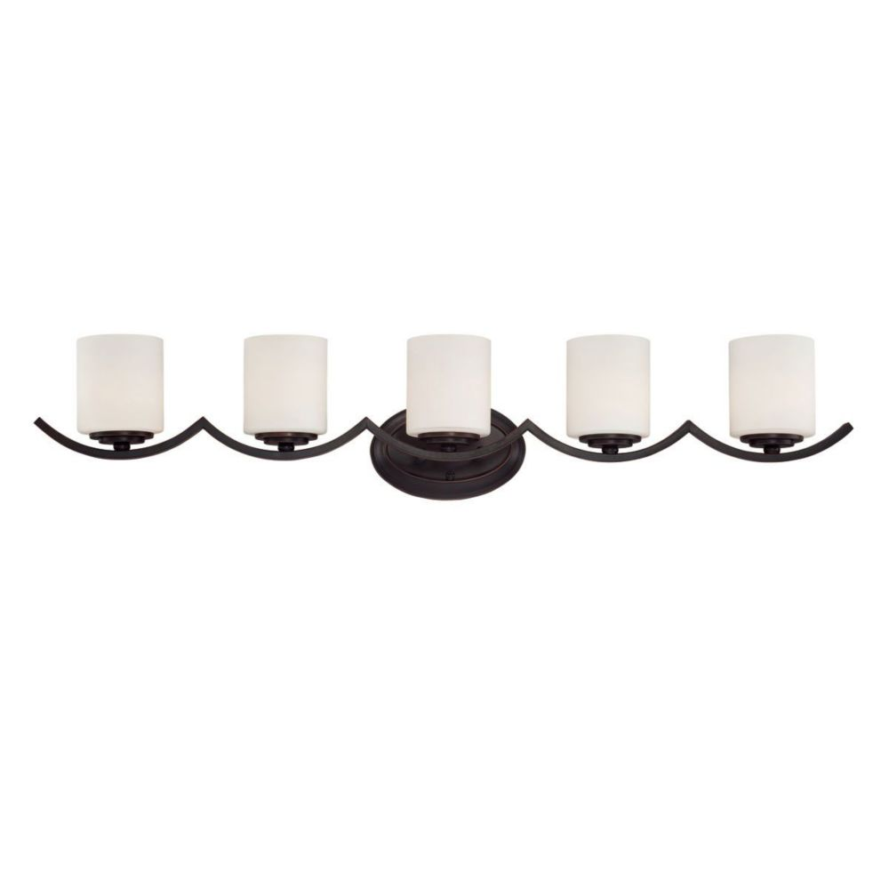 Beam Collection 5 Light Oil Rubbed Bronze Bathbar