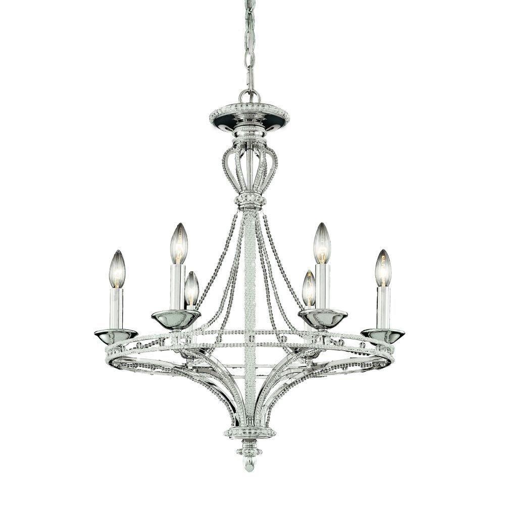Beauchamp Collection 6 Light Nickel Chandelier
