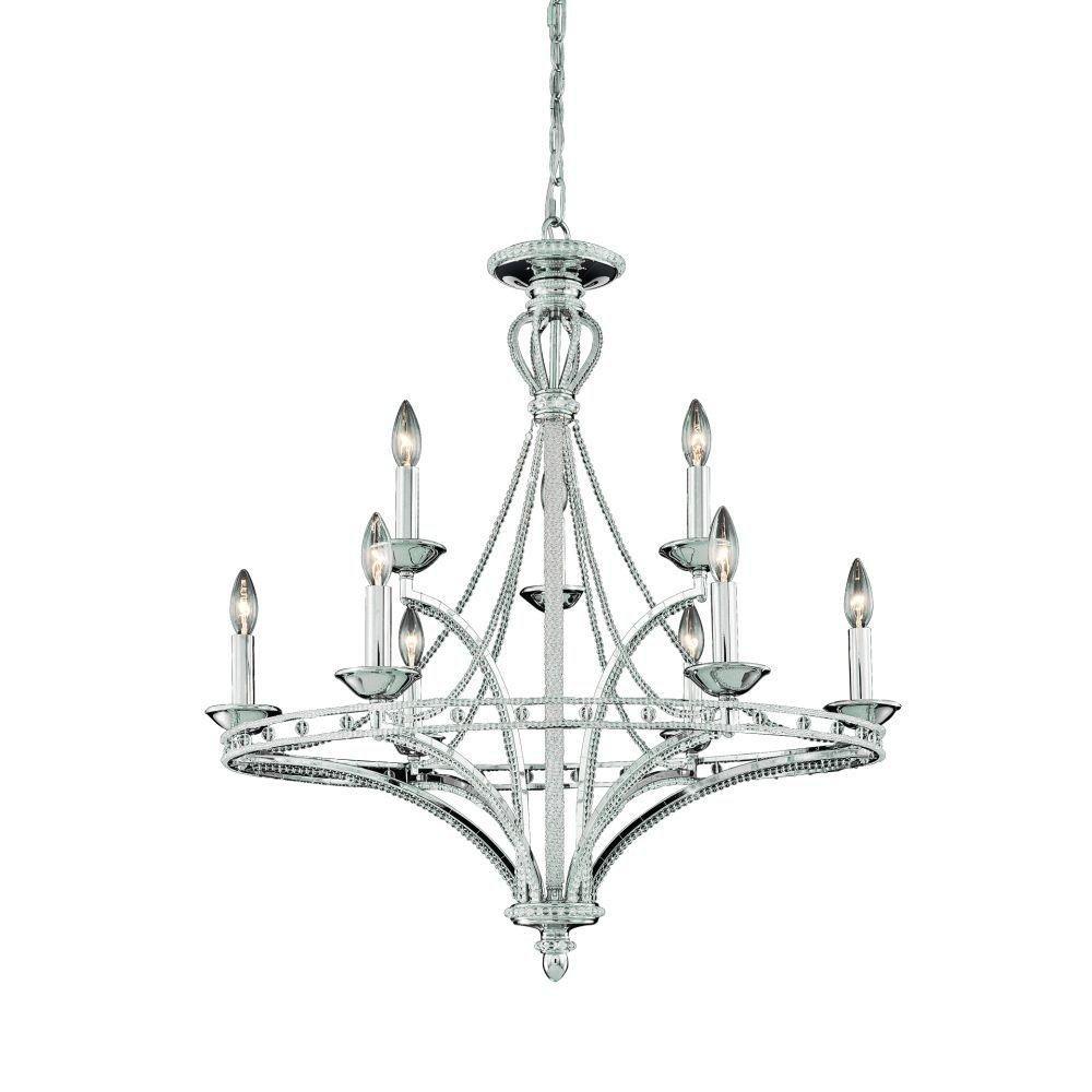 Beauchamp Collection 9 Light Nickel Chandelier