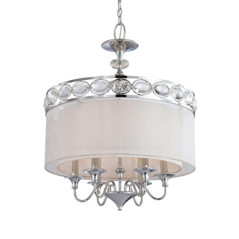 Bijoux Collection 6 Light Chrome Pendant