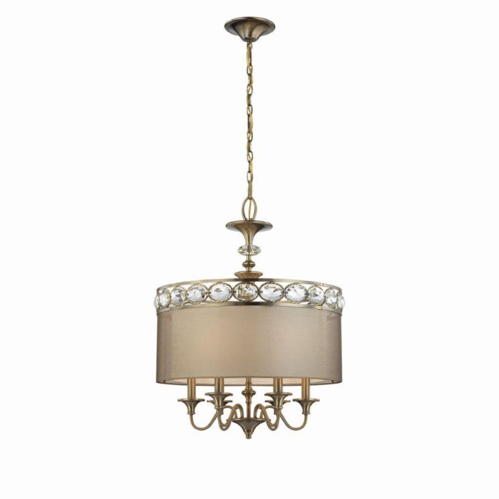 Inspire Collection Brushed Nickel 3-light Pendant 7.85247E