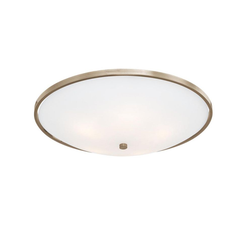 Blanko Collection 3 Light Antique Brass Flushmount 20370-015 Canada Discount