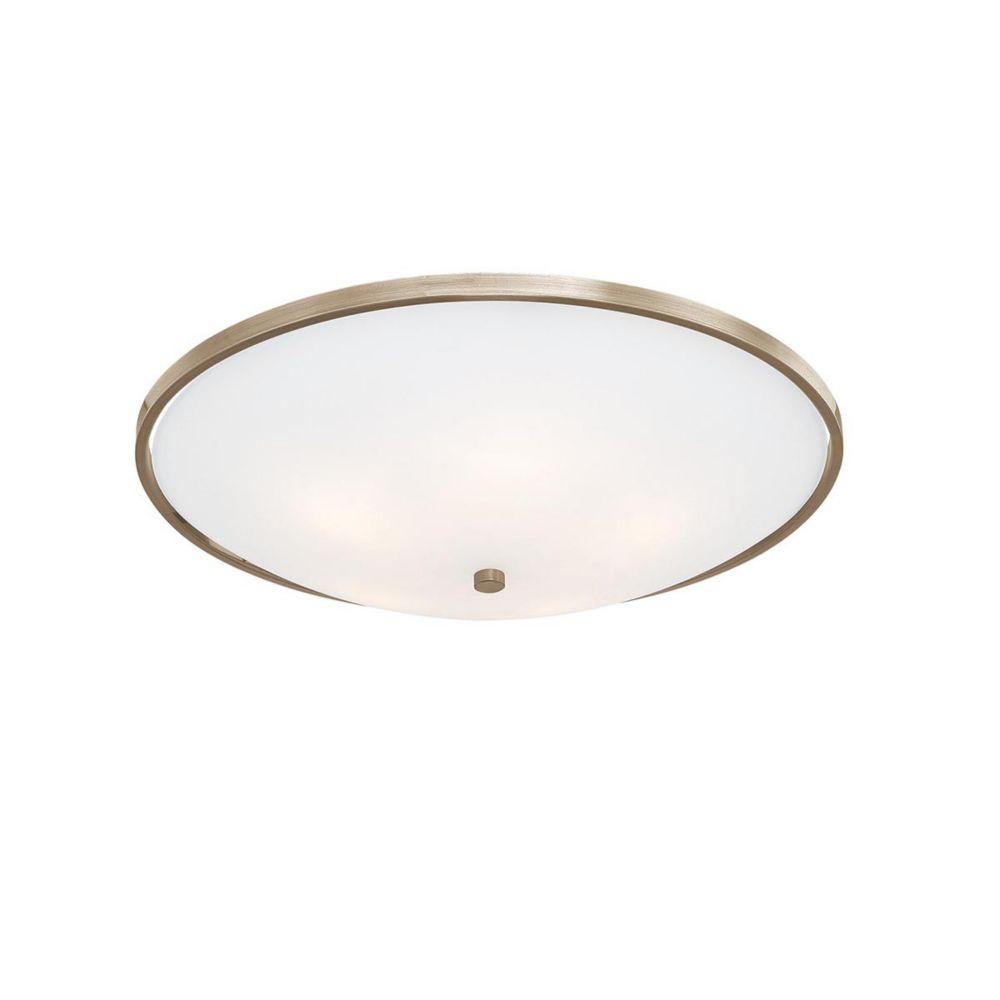 Eurofase Blanko Collection 3 Light Antique Brass Flushmount