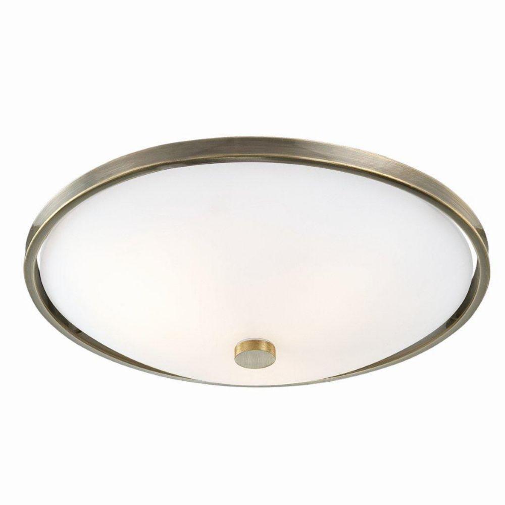 Blanko Collection 5 Light Antique Brass Flushmount