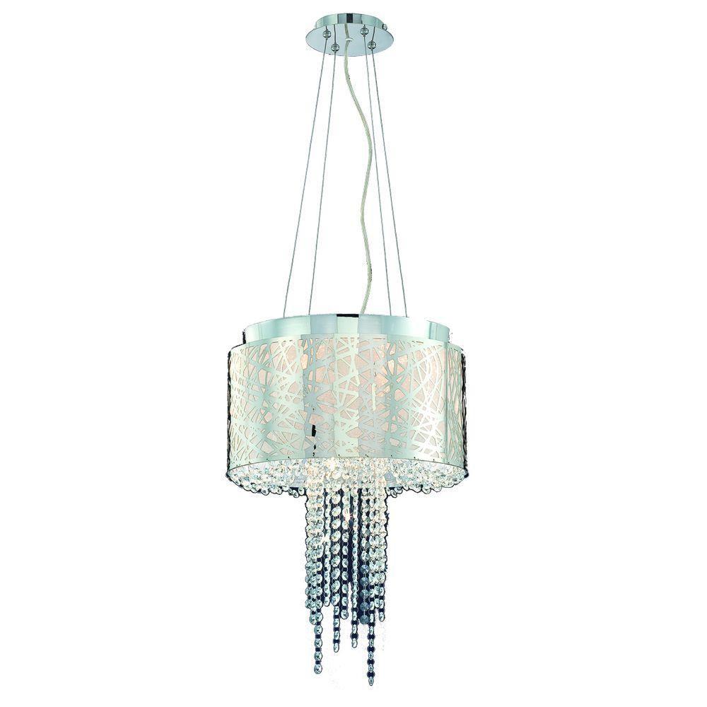 Blanko Collection 5 Light Antique Brass Pendant