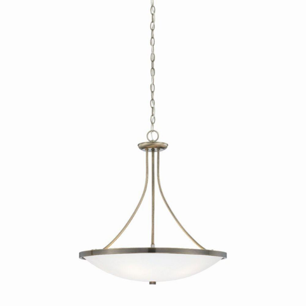Blanko Collection 8 Light Antique Brass Pendant