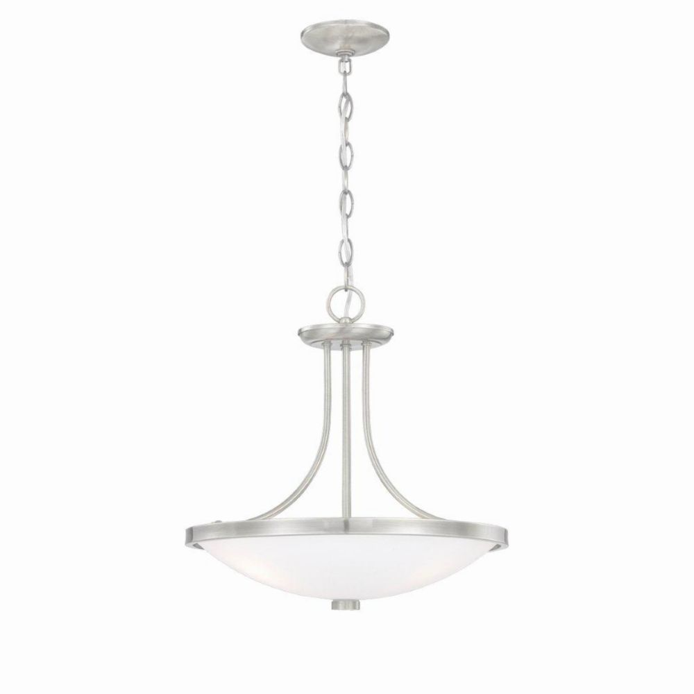 Blanko Collection 8 Light Satin Nickel Pendant
