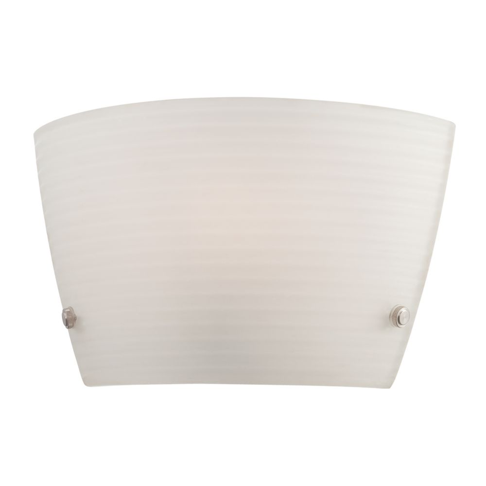 Bold Collection 1 Light White Wall Sconce