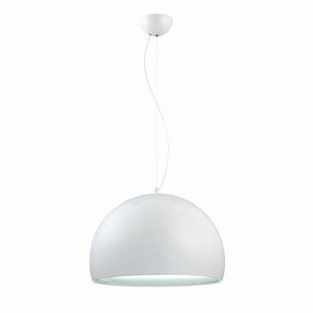 Bollo Collection 1 Light Large White Pendant