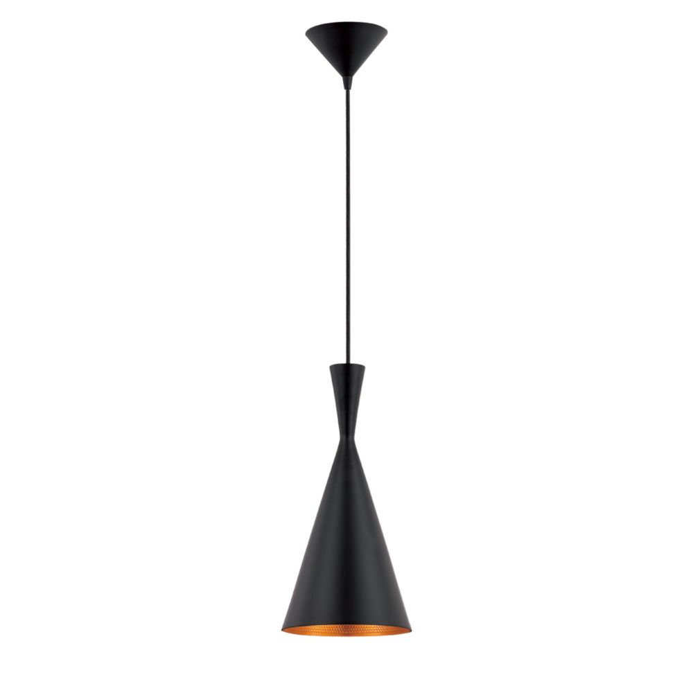 Bronx Collection One-Light Indoor Pendant Light in Black
