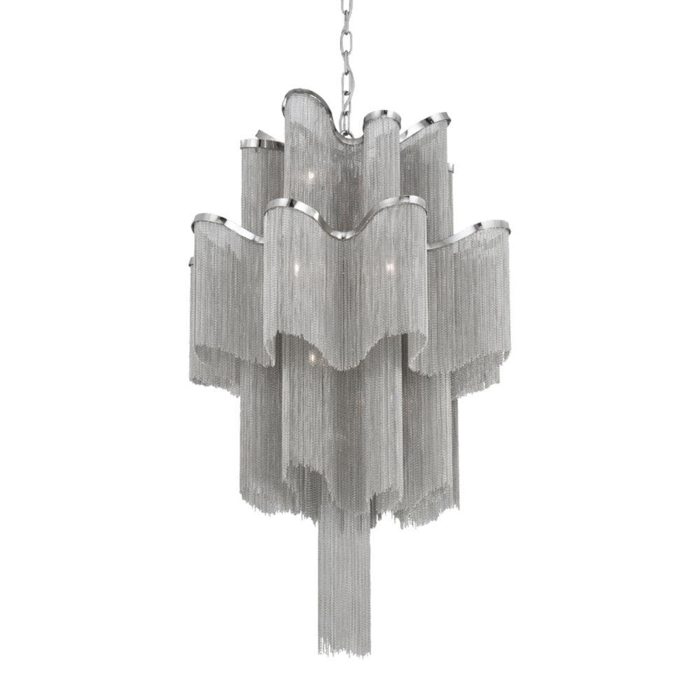 Cadena Collection 12 Light Nickel Pendant