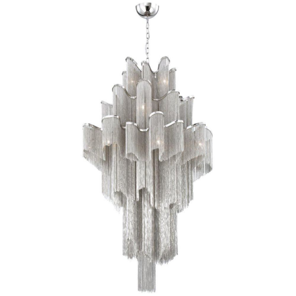 Cadena Collection 16 Light Nickel Pendant