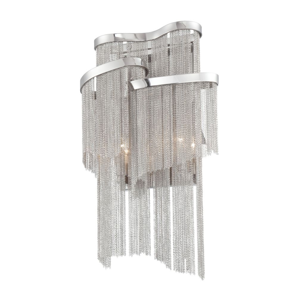 Cadena Collection 2 Light Nickel Wall Sconce
