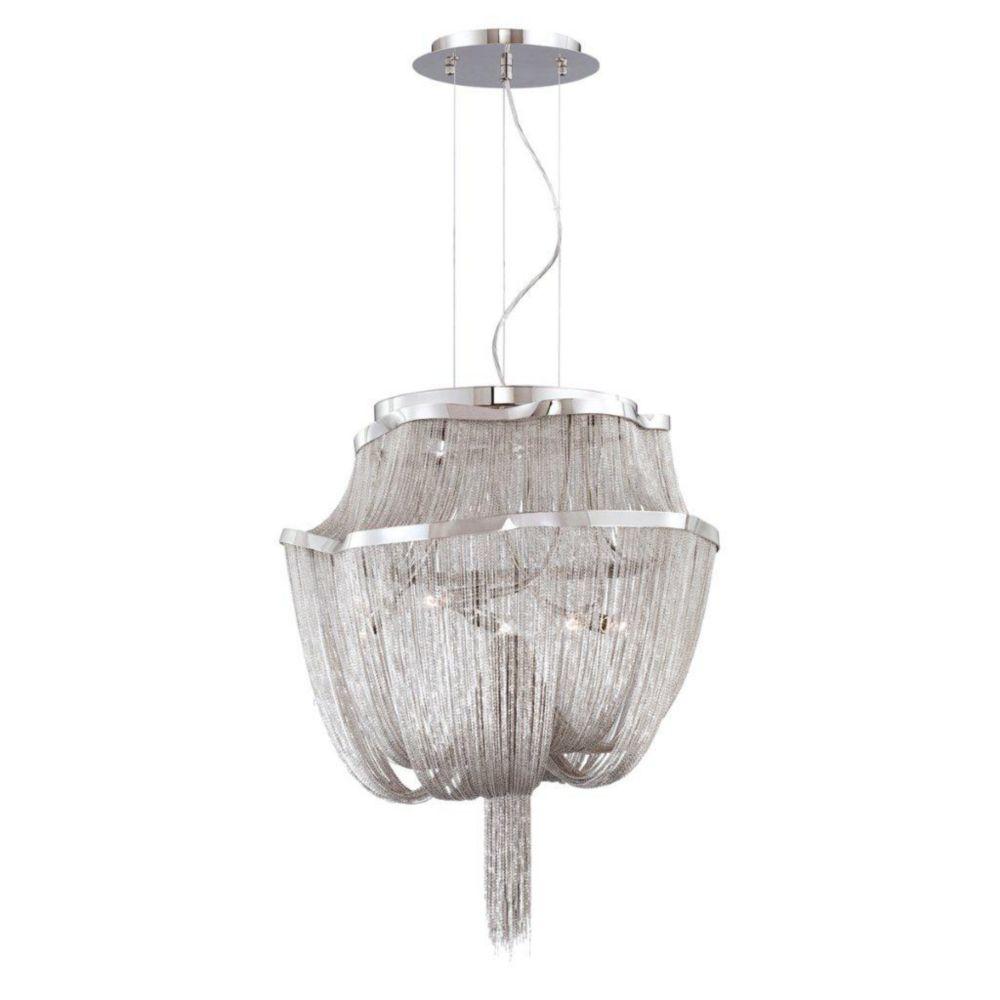Cadena Collection 5 Light Nickel Pendant