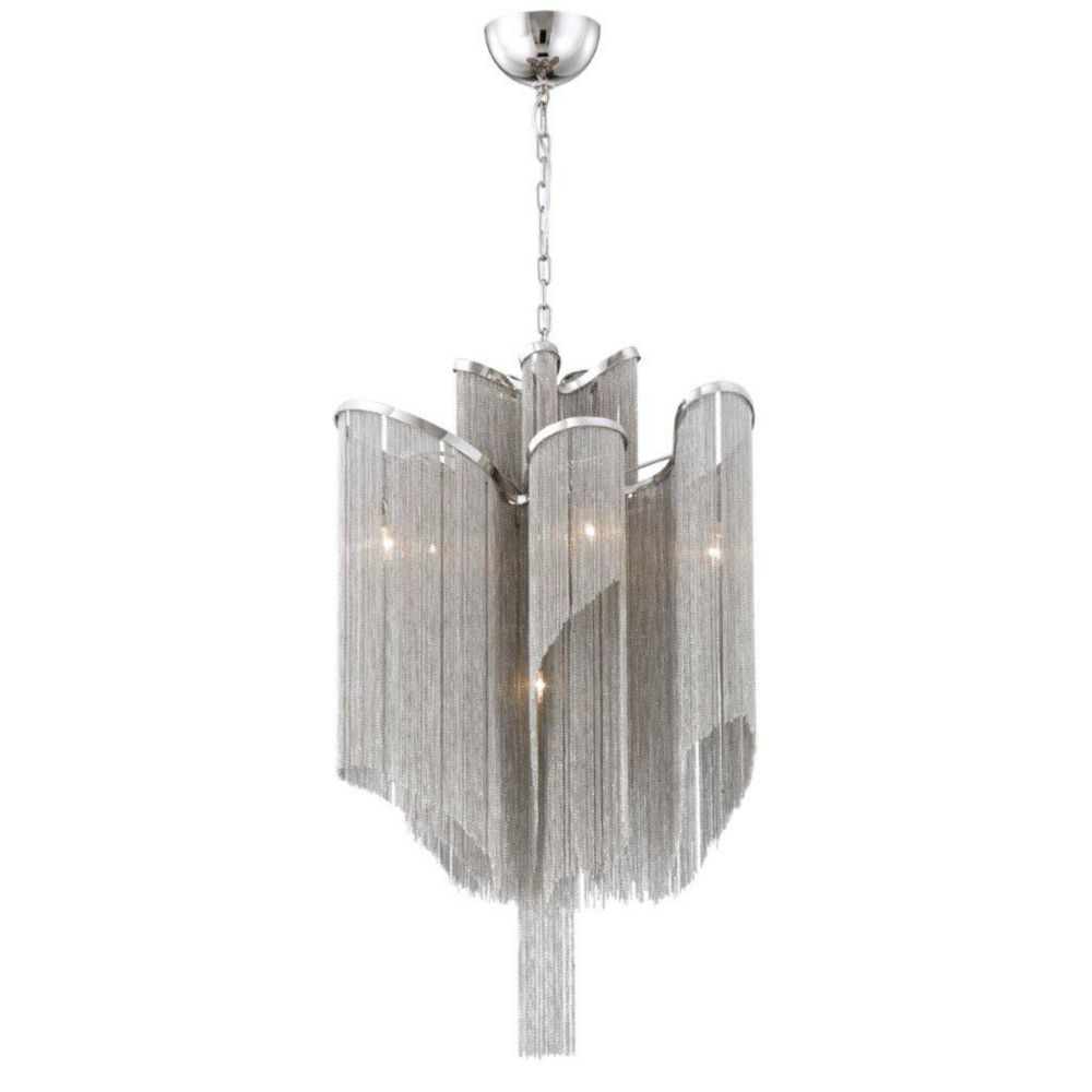 Cadena Collection 7 Light Nickel Pendant