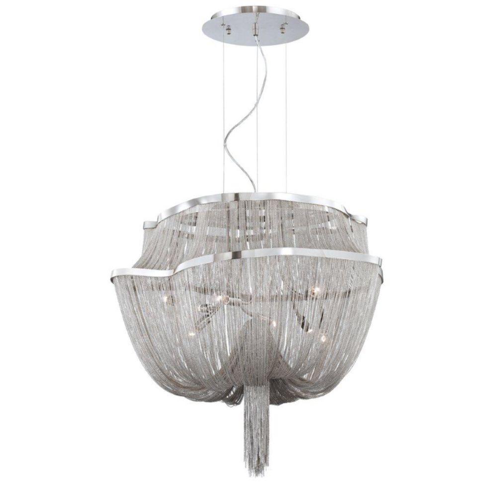 Luminaire Suspendue à 8 Lumières, Collection Cadena