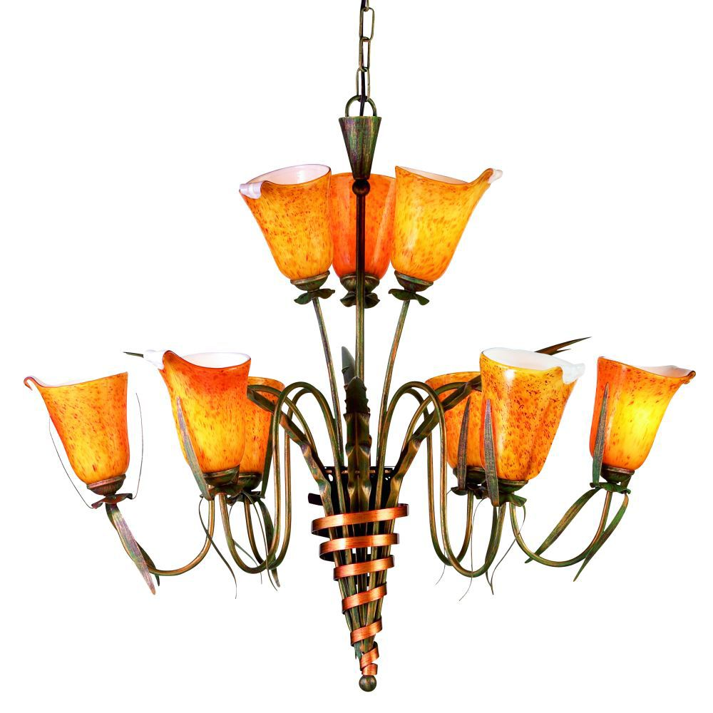 Cala Collection 9 Light Chandelier
