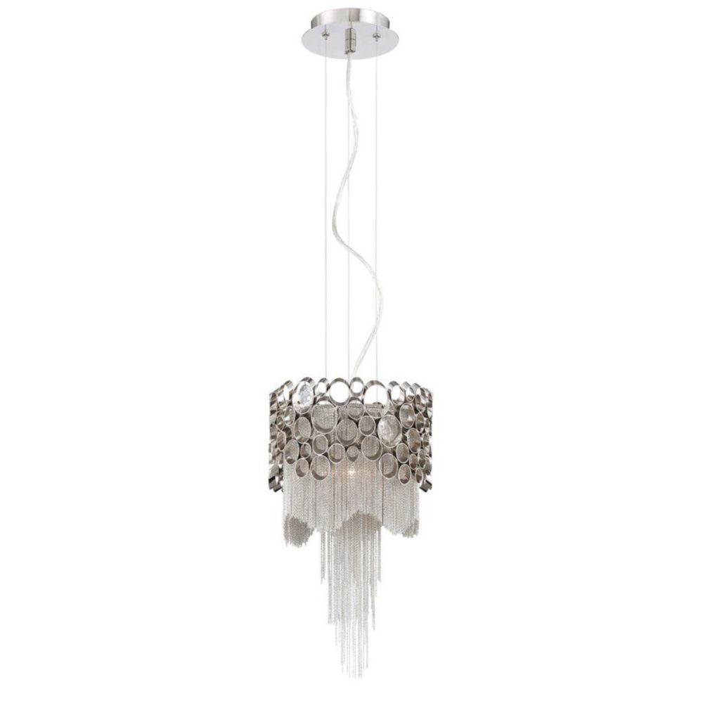 Cameo Collection 1 Light Nickel Pendant