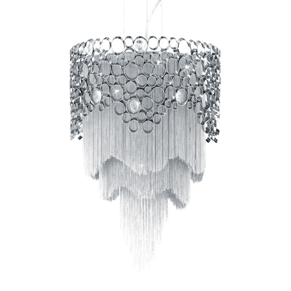 Eurofase Cameo Collection 4 Light Nickel Pendant