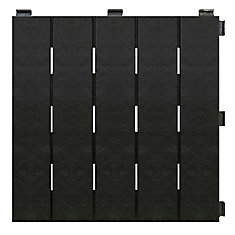 12-inch x 12-inch Black Recycled Rubber Deck & Balcony Tile (Case of 6)