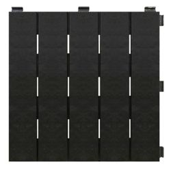 Ecotrend 12-inch x 12-inch Black Recycled Rubber Deck & Balcony Tile (Case of 6)