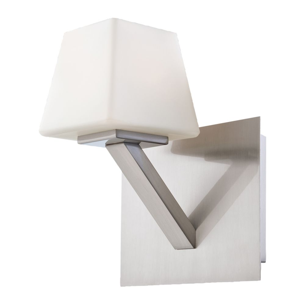 Anglo Collection 1 Light Satin Nickel Wall Sconce