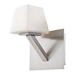 Eurofase Anglo Collection 1 Light Satin Nickel Wall Sconce