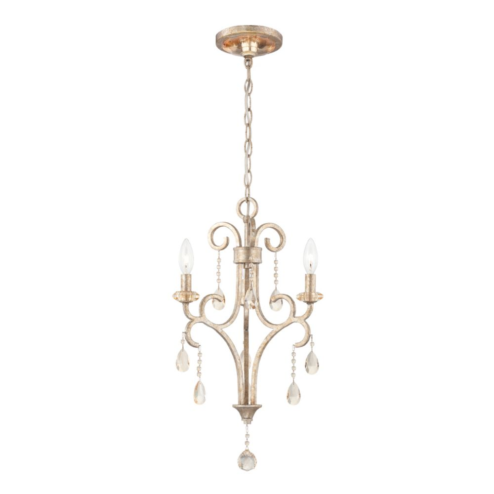 Caruso Collection 3 Light Silver Chandelier