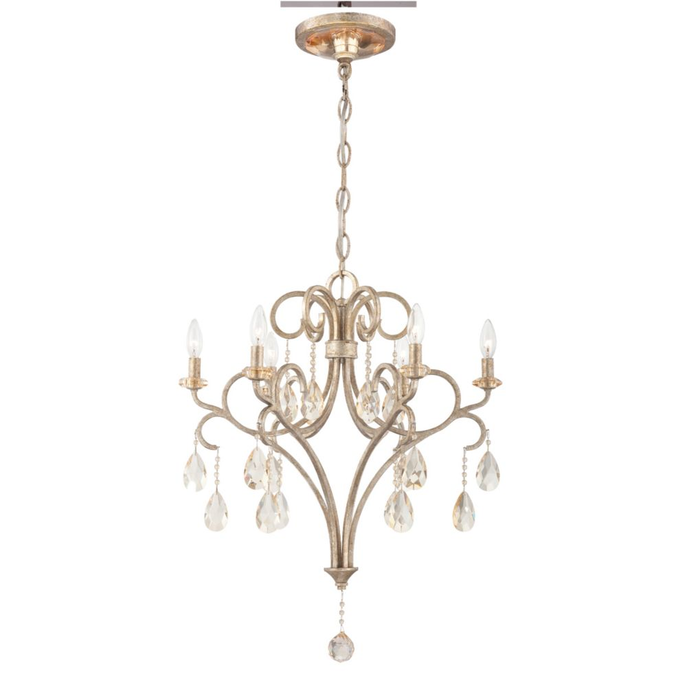 Caruso Collection 6 Light Silver Chandelier