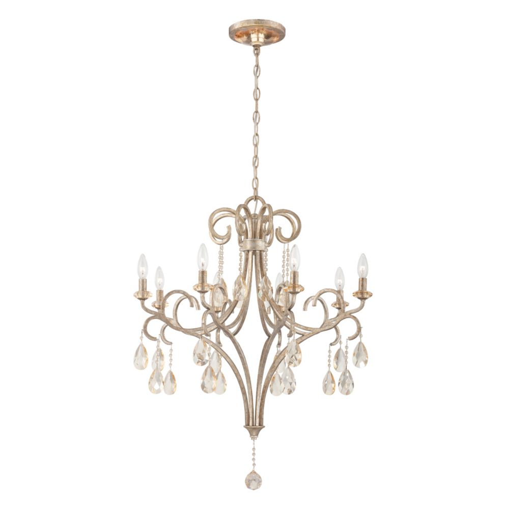 Caruso Collection 8 Light Silver Chandelier