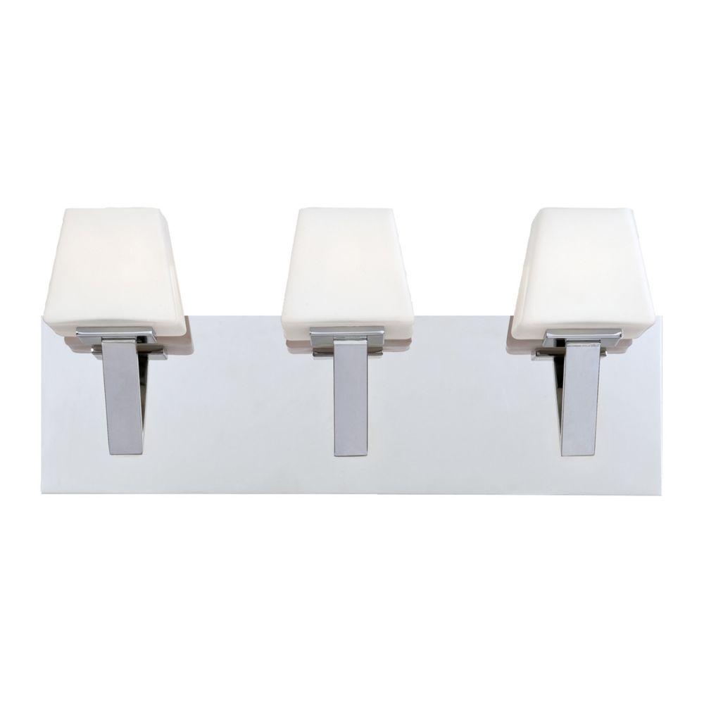 Eurofase Anglo Collection 3 Light Chrome Bath Bar