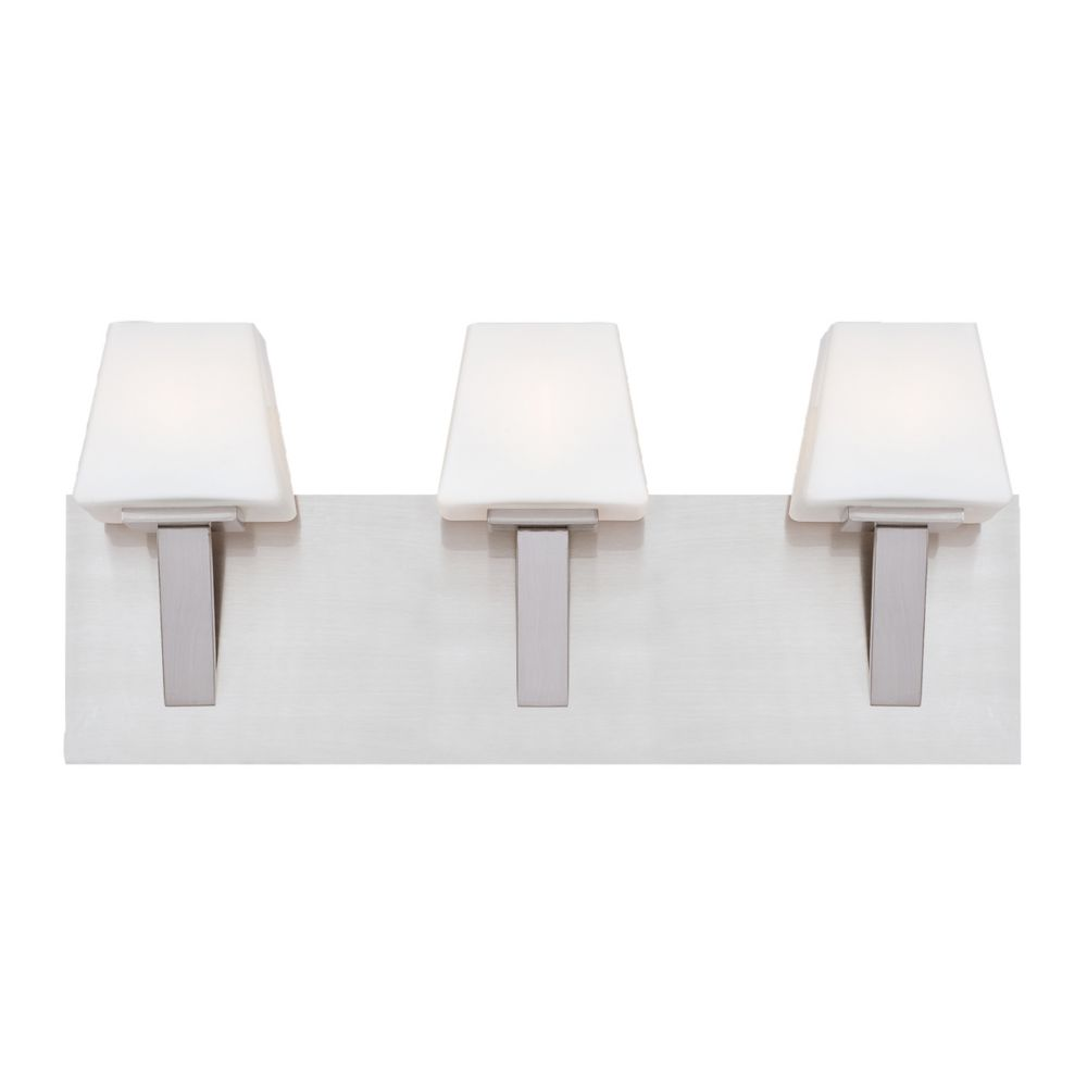 Anglo Collection 3 Light Satin Nickel Bathbar