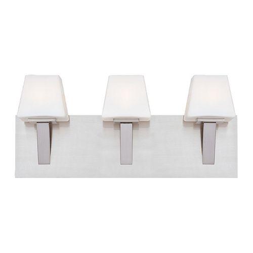 Eurofase Anglo Collection 3 Light Satin Nickel Bath Bar