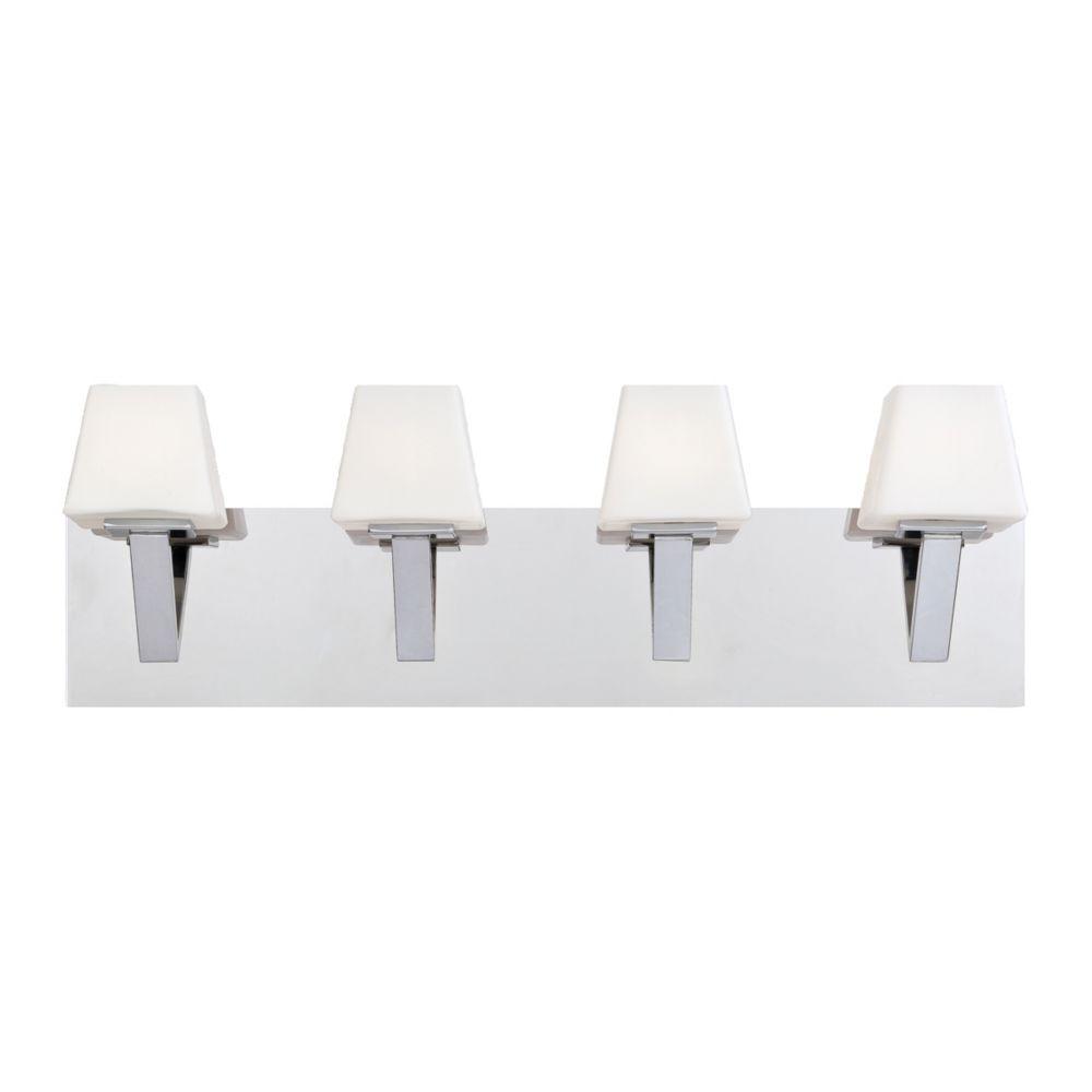 Eurofase Anglo Collection 4 Light Chrome Bath Bar