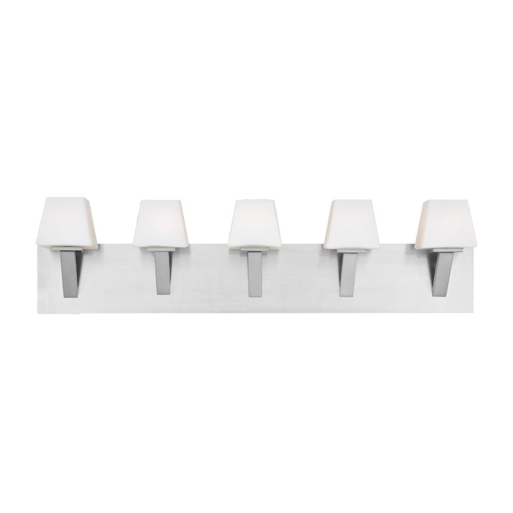 Anglo Collection 5 Light Satin Nickel Bathbar