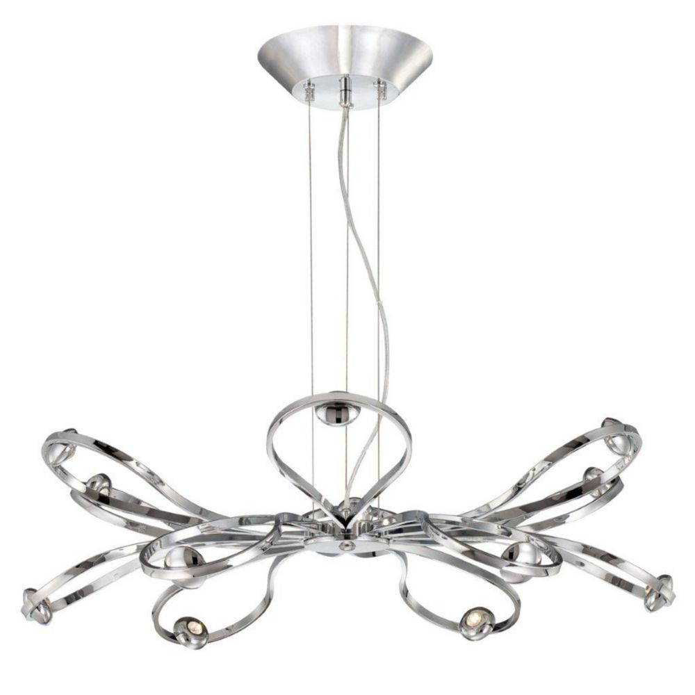 Aria Collection 12 Light Chrome LED Pendant