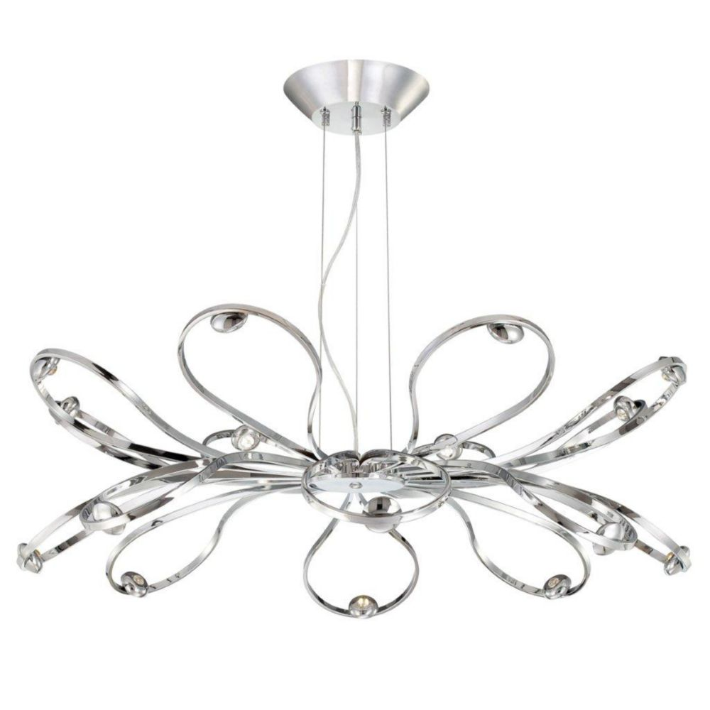 Aria Collection 16 Light Chrome LED Pendant