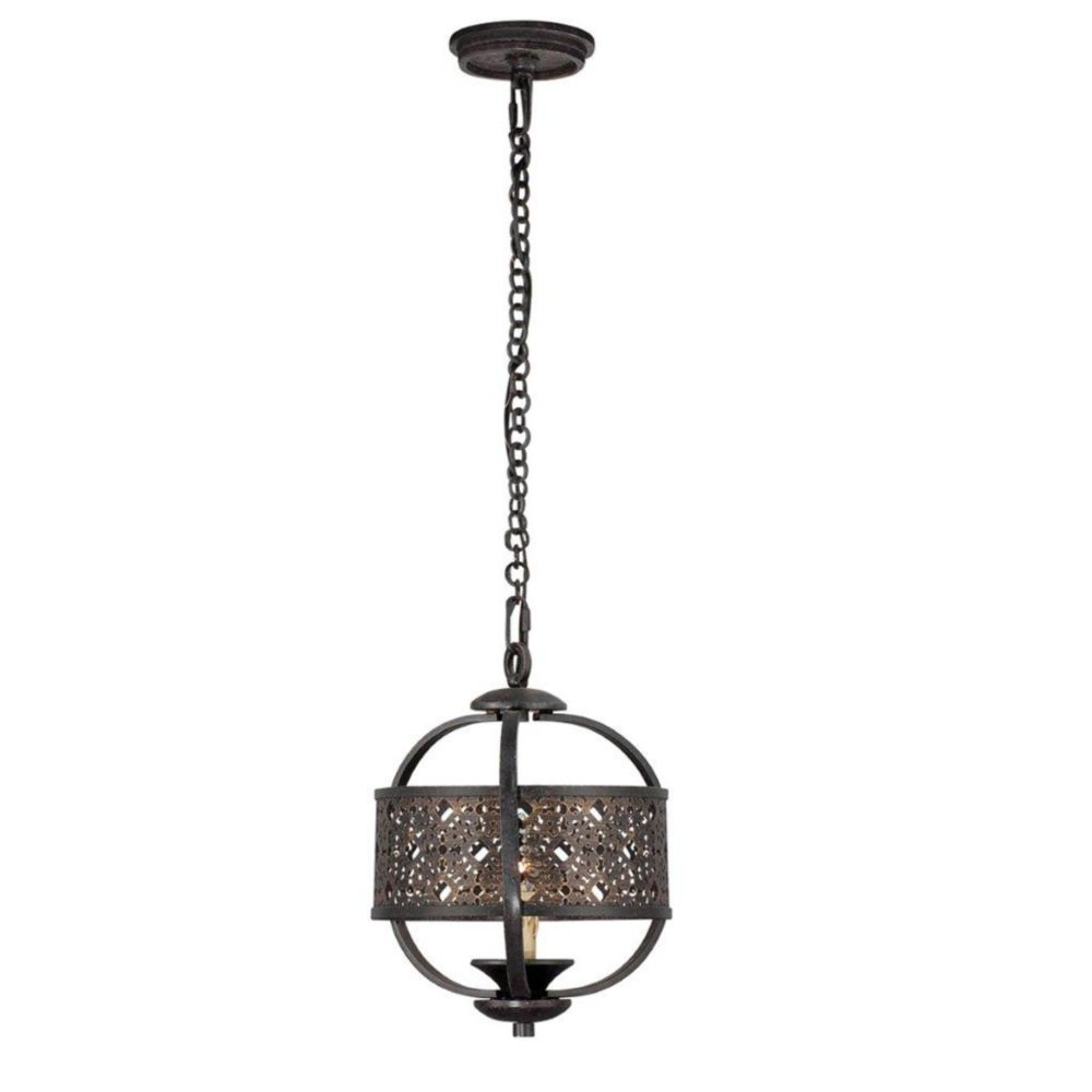 Arsenal Collection 1 Light Ancient Bronze Chandelier
