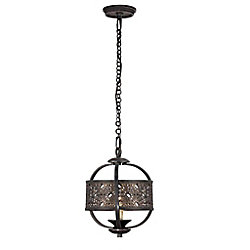 Eurofase Arsenal Collection 1 Light Ancient Bronze Chandelier