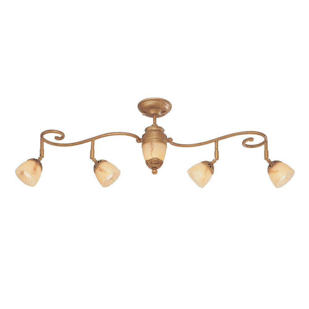Astoria Collection 5 Light Antique Gold Track