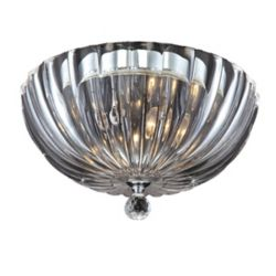 Eurofase Aurora Collection 2-Light Clear Flushmount Fixture